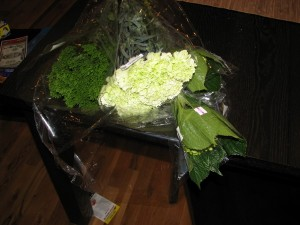 bought flowers
