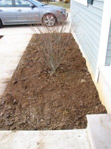 finished flowerbed