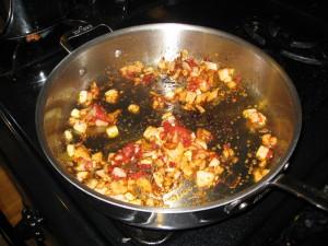 onions, tomato paste, etc.