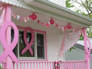 Bunting on Annie's house