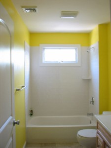 upstairs bathroom painted