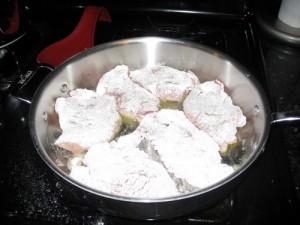 dredged pork cutlets