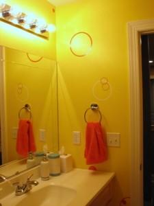 upstairs bathroom new towel ring