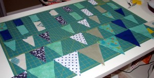 cut bunting navy and aqua