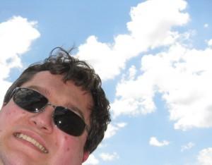 adam at the beach