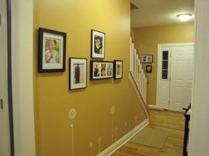 photos in the hallway