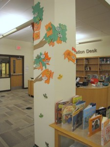back of library tree fall 09
