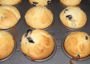 birthday blueberry muffins