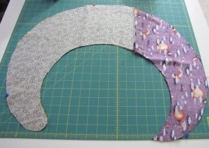 sewing the witch wreath