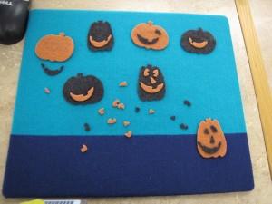 pumpkin flannelboard