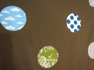 close up circle quilt