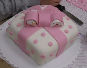 someone's present cake