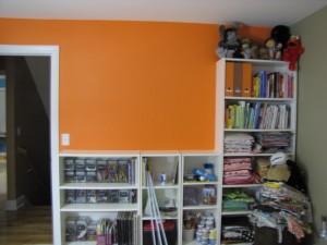orange wall before