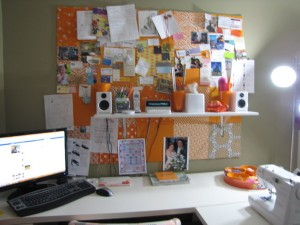 bulletin board wall after