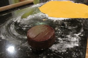 rolled out orange fondant