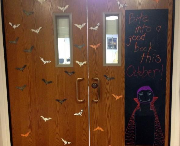 October library door