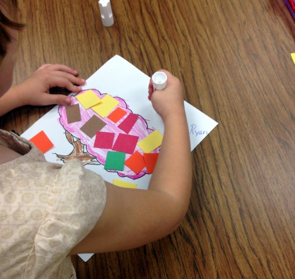 fall collages with pre-k 2