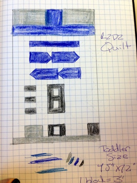 R2D2Quilt sketch