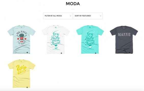 Moda Stately Type tees